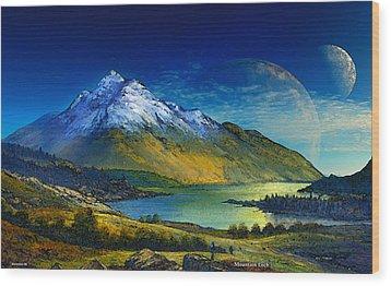 Highland Home Wood Print by David Jackson