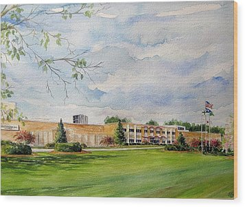 Wood Print featuring the painting Highland Industries Cheraw by Gloria Turner