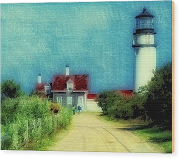 Highland Lighthouse II Wood Print by Gina Cormier