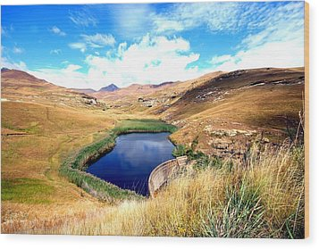 Wood Print featuring the photograph Highlands by Riana Van Staden