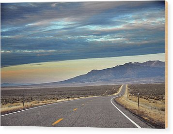 Highway 130 To Minersville Wood Print by Utah-based Photographer Ryan Houston