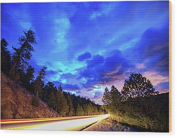 Wood Print featuring the photograph Highway 7 To Heaven by James BO Insogna