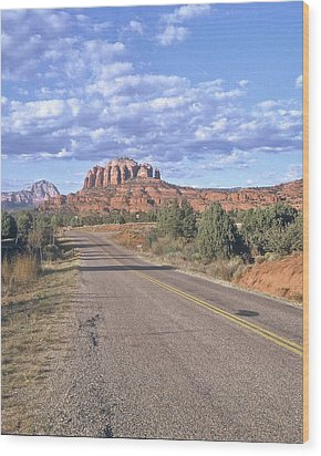 Wood Print featuring the photograph Highway To Sedona by Gary Wonning