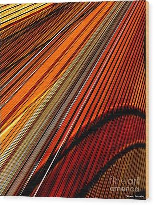 Highway To Sun Wood Print