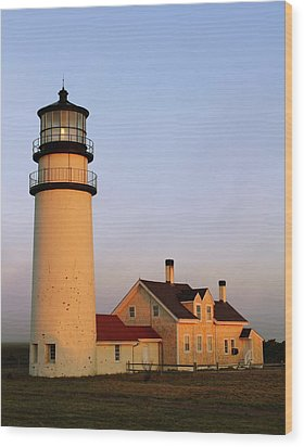 Higland Lighthouse Cape Cod Wood Print by Roupen  Baker