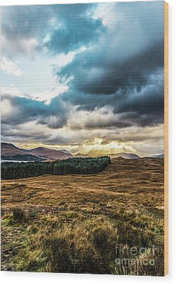 Wood Print featuring the photograph Higlands Wonders by Anthony Baatz
