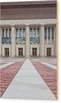 Hill Auditorium U Of M Wood Print