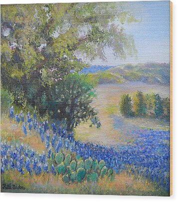 Hill Country View Wood Print
