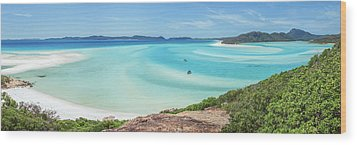 Wood Print featuring the photograph Hill Inlet Lookout by Az Jackson