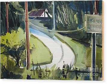 Wood Print featuring the painting Hill Top Drive Apartments Matted Framed Glassed by Charlie Spear