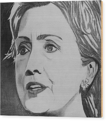 Hillary Clinton Wood Print by Kenneth Regan