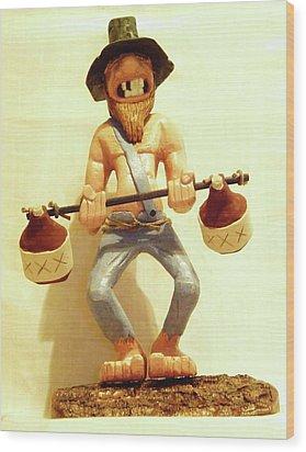 Hillbilly Weightlifter Wood Print by Russell Ellingsworth