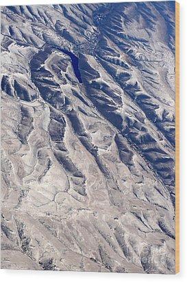 Hills And Valleys Aerial Wood Print by Carol Groenen