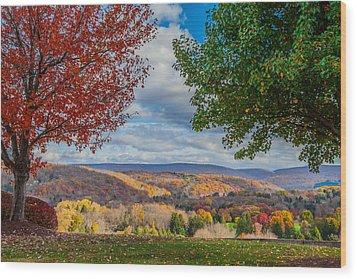 Hills Of Autumn Wood Print