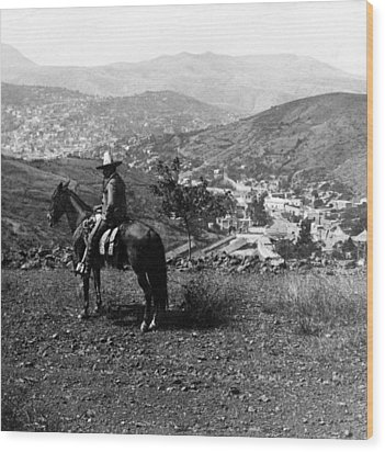 Hills Of Guanajuato - Mexico - C 1911 Wood Print by International  Images