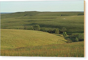 Wood Print featuring the photograph Hills Of Kansas by Thomas Bomstad