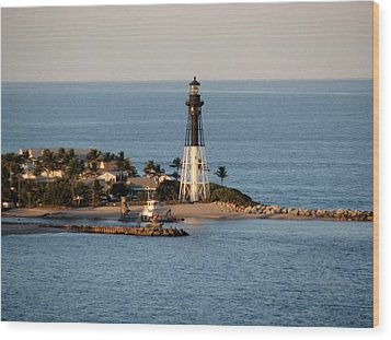Hillsboro Lighthouse In Florida Wood Print