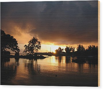 Hilo Gold Wood Print by Ron Holiday Broomell