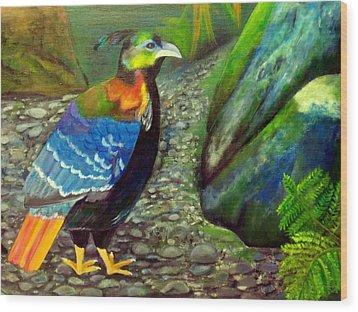 Himalayan Monal Pheasant Wood Print by Jennie Robin