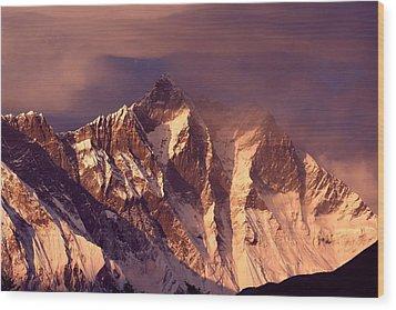 Himalayas At Sunset Wood Print by Pal Teravagimov Photography