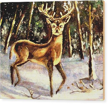 Wood Print featuring the painting Hinds Feet by Hazel Holland