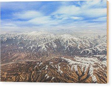 Hindu Kush Snowy Peaks Wood Print