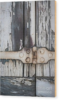 Wood Print featuring the photograph Hinge On Old Shutters by Elena Elisseeva