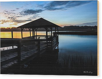 Hinson House Dock Wood Print by Bill Cantey