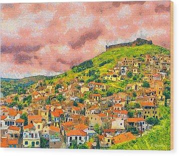 Hios Volissos Wood Print by George Rossidis