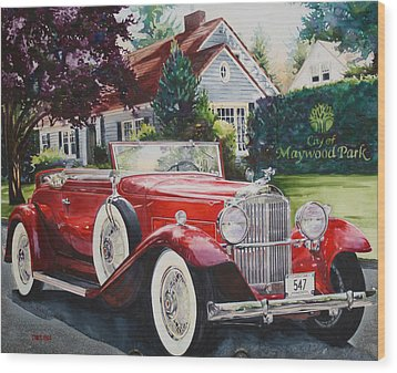 His And Hers Packard 1932 Wood Print by Mike Hill
