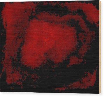 His Blood Lives Wood Print by Marsha Heiken