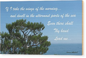 His Hand Shall Lead You Wood Print by Doreen Whitelock