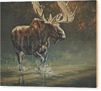 His Majesty Wood Print by Mia DeLode