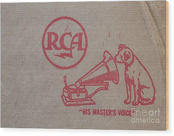 Wood Print featuring the photograph His Masters Voice Rca by Edward Fielding