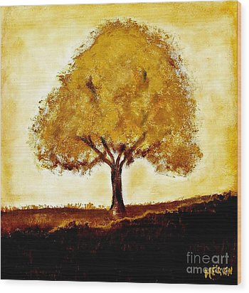 His Tree Wood Print by Marsha Heiken