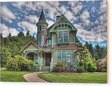 Wood Print featuring the photograph Historic Castle In Drain Oregon by Tyra  OBryant