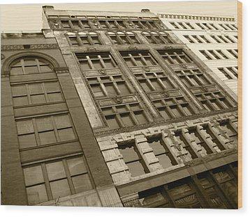Historic Detroit Wood Print