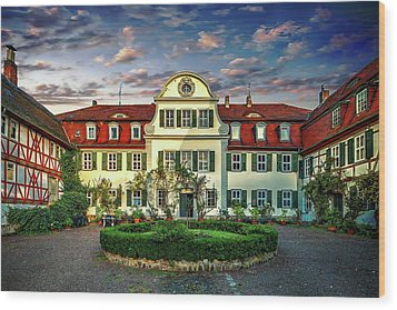 Historic Jestadt Castle Wood Print