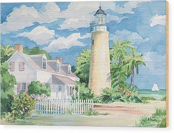 Historic Key West Lighthouse Wood Print