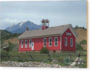 Historic Maysville School In Colorado Wood Print by Catherine Sherman