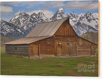 Historic Moulton Barn Wood Print by Adam Jewell
