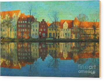 Historic Old Town Lubeck Wood Print
