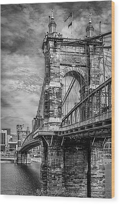 Historic Roebling Bridge Wood Print