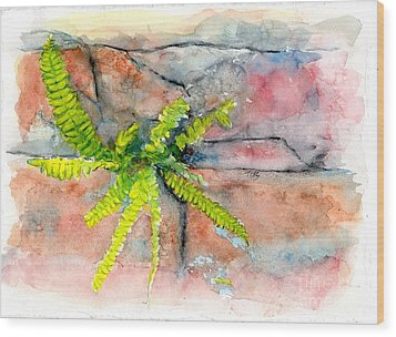 Wood Print featuring the painting Historic Savannah Wall Weed by Doris Blessington