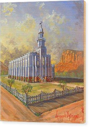 Historic St. George Temple Wood Print