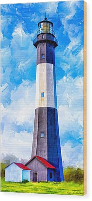 Historic Tybee Island Lighthouse Wood Print by Mark E Tisdale