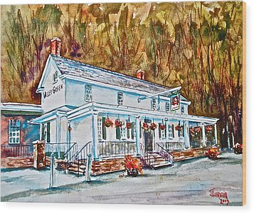 Historic Valley Green Inn Wood Print by Joyce A Guariglia