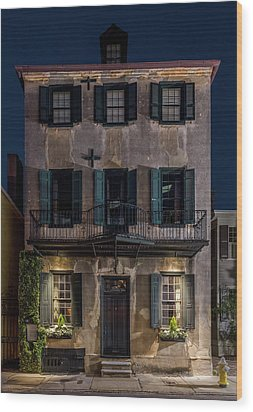 Wood Print featuring the photograph Historic William Vanderhorst House, Charleston by Carl Amoth