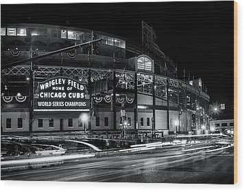 Historic Wrigley Field Wood Print