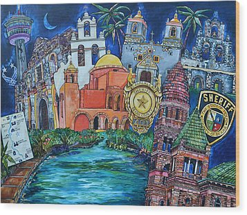 Historical 401s San Antonio Wood Print by Patti Schermerhorn